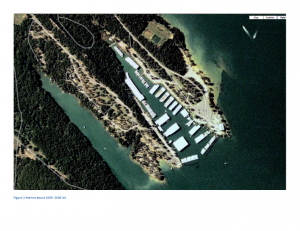 Aerial View of Lake Murray Marina  2005-2006