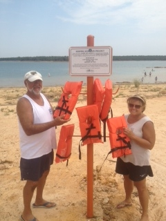Ron Fields and Diana Baldwin are the program managers. Their dedication represents the Club's commitment to water safet